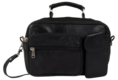 Black Color Sheepnapa Leather Unisex Sling Bag - DOC2-BLACK