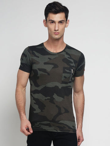Grey Color Cotton Men's Tshirt - DOCAMO015024