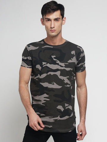Grey Color Cotton Men's Tshirt - DOCAMO015025