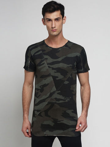 Grey Color Cotton Men's Tshirt - DOCAMO015026
