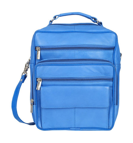 Blue Color Sheepnapa Leather Unisex Sling Bag - DOCTORBAGBLUE
