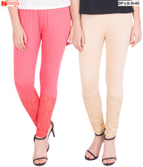 AMERICAN ELM-Pack Of 2  Women's Beautiful Cotton Viscose Legging - DP-LG-3I-4C