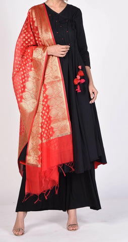 Red Color Silk Women's  2.30 Meter Stylish Dupatta - DP_18_RED