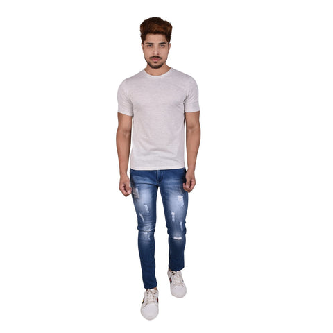 Blue Color Denim Men's Jeans - DSC-7377