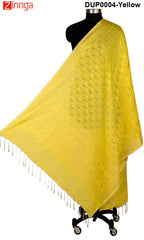 ISHIMAYA-Yellow Color Banarasi Silk Dupatta - DUP0074-Yellow