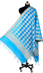ISHIMAYA-Blue Color Banarasi Silk Dupatta - DUP0076-Blue