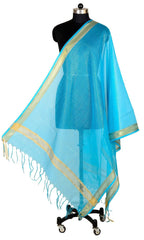 ISHIMAYA-Blue Color Banarasi Silk Dupatta - DUP0088-Blue