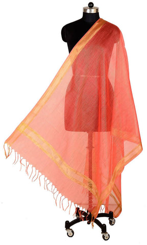ISHIMAYA-Red Color Banarasi Silk Dupatta - DUP0088-Red