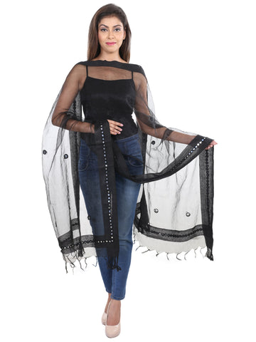 Black Colour   Tissue  Dupatta- DUP0412