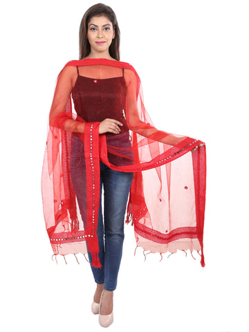 Red   Colour Tissue  Dupatta- DUP0413