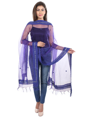 Royal blue   Colour Tissue  Dupatta- DUP0414