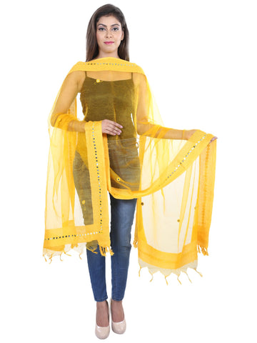 Yellow   Colour Tissue  Dupatta- DUP0416