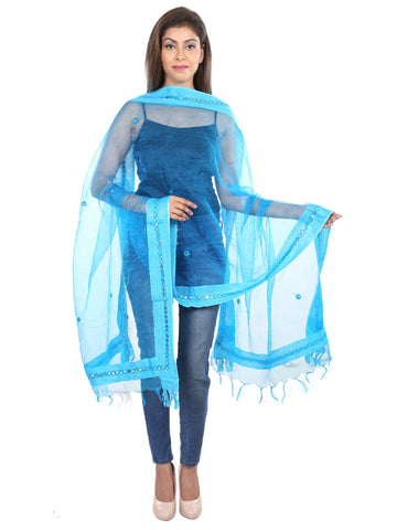 Sky blue  Colour Tissue  Dupatta- DUP0418