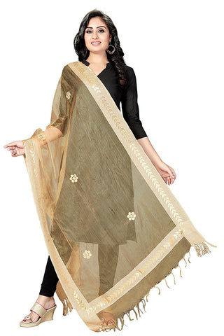 Beige Colour  TISSUE Dupatta- DUP0548
