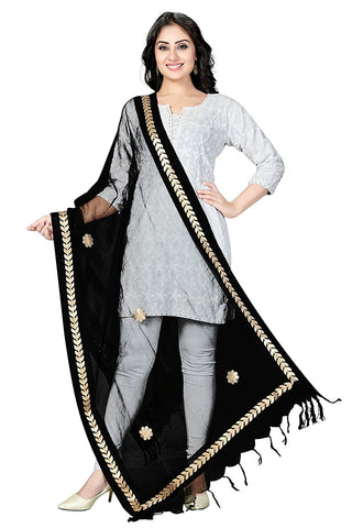 Black Colour  TISSUE Dupatta- DUP0549