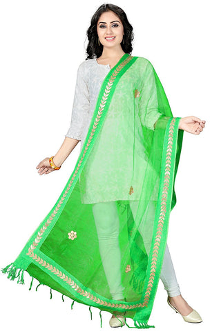 Green Colour  TISSUE Dupatta- DUP0550