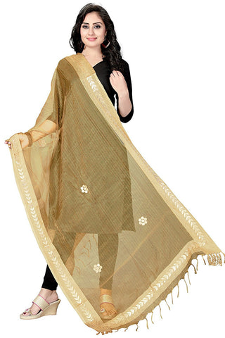 Gold Colour  TISSUE Dupatta- DUP0551