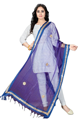 Royal Blue  Colour TISSUE Dupatta- DUP0553