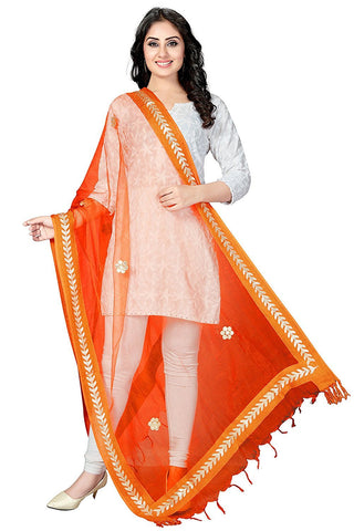 Orange Colour  TISSUE Dupatta- DUP0558