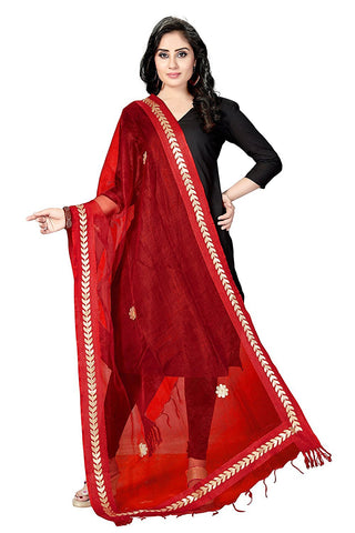 Bright Red  Colour TISSUE Dupatta- DUP0560
