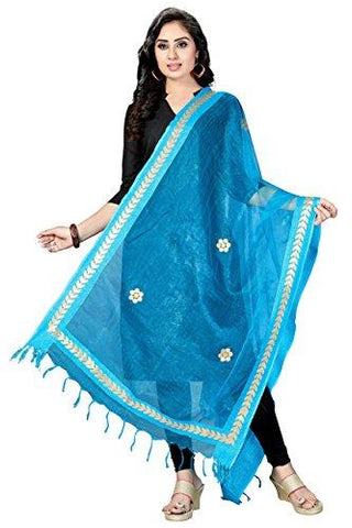 Sky Blue Colour  TISSUE Dupatta- DUP0561