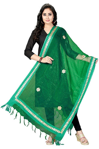 Green Colour  TISSUE Dupatta- DUP0562