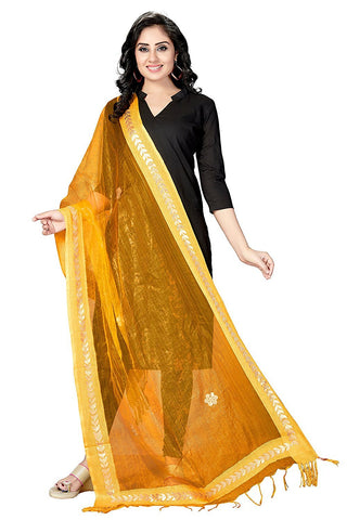 Mustard Colour  TISSUE Dupatta- DUP0564