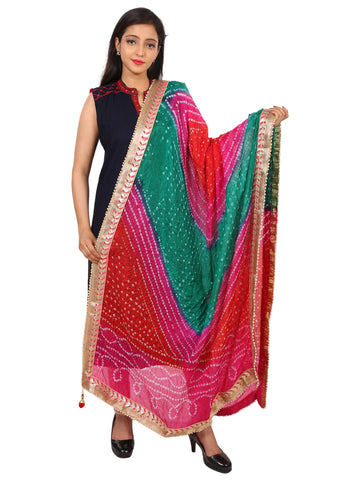 Multi Colour Silk Dupatta- DUP0613