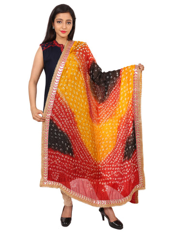 Multi Colour Silk Dupatta- DUP0614