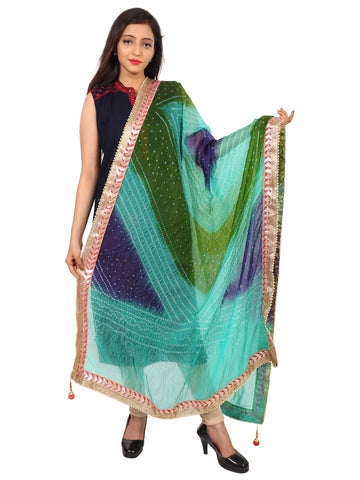 Multi Colour Silk Dupatta- DUP0615