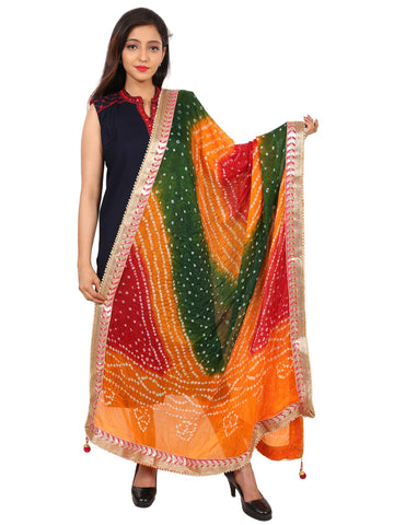 Multi Colour Silk Dupatta- DUP0617