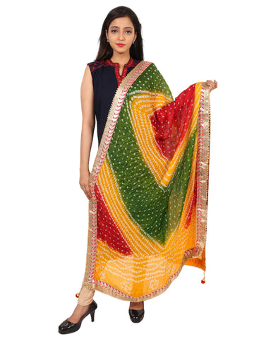 Multi Colour Silk Dupatta- DUP0618