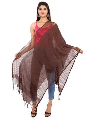 Brown Colour Silk Dupatta- DUP0641