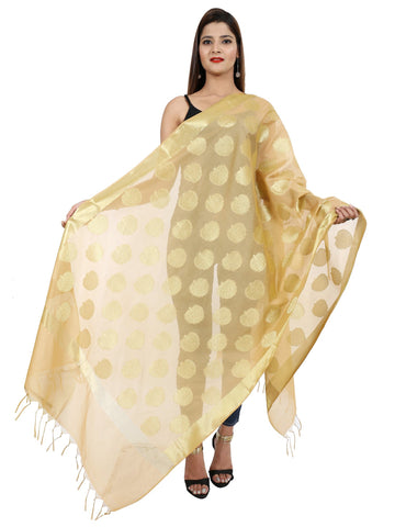 Beige Colour Pure Silk Dupatta- DUP0668