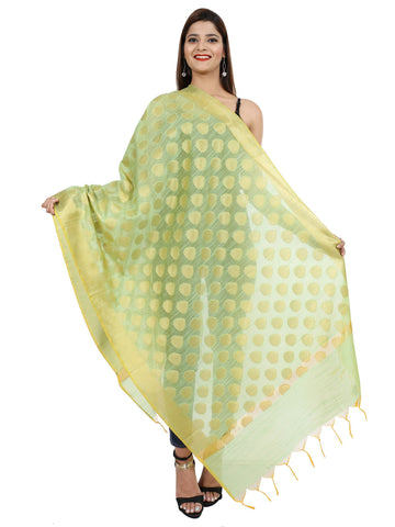 Pista Colour Pure Silk Dupatta- DUP0671