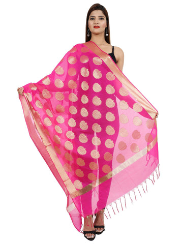 RANI Colour Pure Silk Dupatta- DUP0677