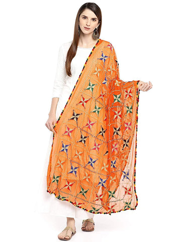 Orange Colour Chiffon Dupatta- DUP0684