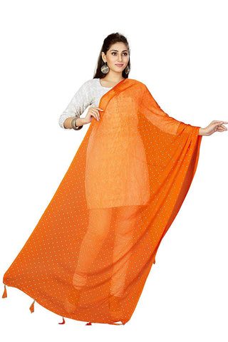 Orange Colour Chiffon  Dupatta- DUP0689