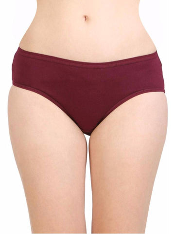 Maroon Color Cotton Women's Plain Panty - DVS-PT203