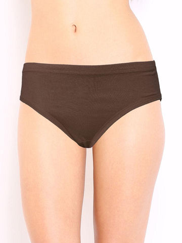 Brown Color Cotton Women's Plain Panty - DVS-PT204