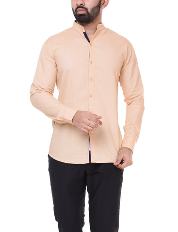 Light Pink Color Cotton  Men's Solid Shirt - DVS-ST206