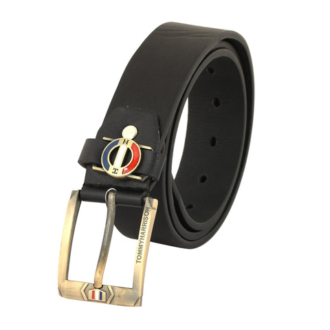 Black Color Ragzin Men's Belt - DVS_BT02
