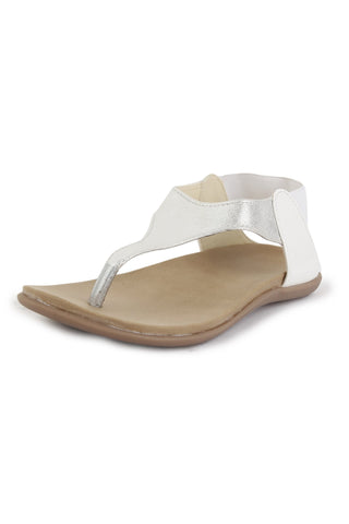 DIGNI White Color Synthetic Women Flats - DWF-323-WHITE