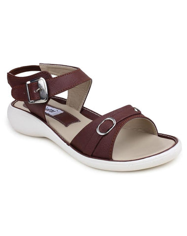 DIGNI Brown Color Synthetic Women Flats - DWF-B-1-BROWN