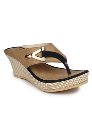 DIGNI Black Color Synthetic Women Wedges - DWF-B-2-BLACK