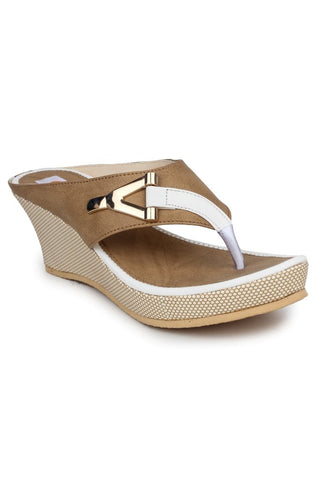 DIGNI White Color Synthetic Women Wedges - DWF-B-2-WHITE