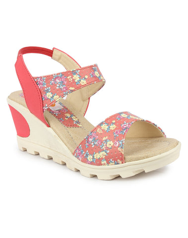DIGNI Peach Color Synthetic Women Wedges - DWF-B-20-PEACH