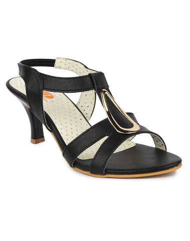 DIGNI Black  Color Synthetic Women Heels - DWF-B-40-BLACK