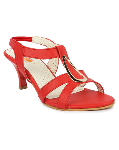 DIGNI Red Color Synthetic Women Heels - DWF-B-40-RED
