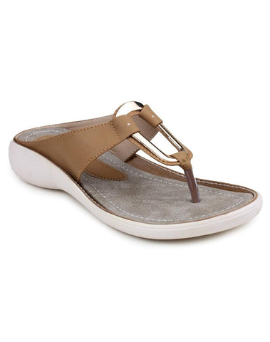 DIGNI Beige Color Synthetic Women Flats - DWF-B-8-BEIGE